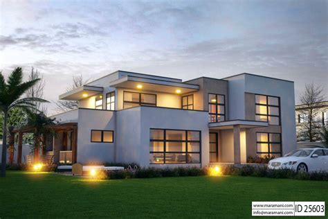 modern 5 bedroom house designs modern 5 bedroom house design id 25603 floor plans by maramani