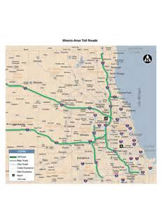 Illinois Toll Road Map by Toll Roads In Illinois