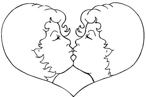 imagenes de amor dandose un beso para dibujar dibujo de amor para colorear