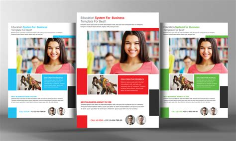 College Education Flyer Template Flyer Templates On Creative Market College Flyer Template
