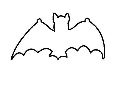 bat templates free bat outline template coloring home