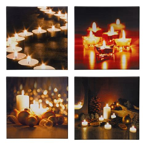 Led Light Flickering Canvas Picture Flicker Wall