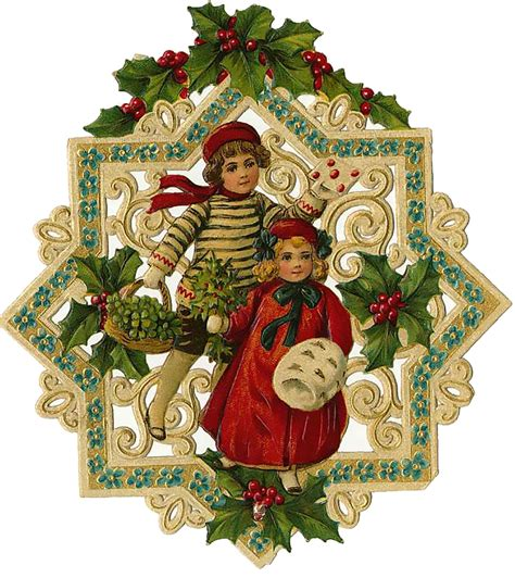 vintage christmas vintage victorian christmas die cut clip art day eight