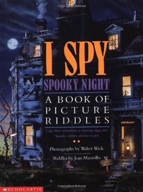 i a book of picture riddles i spooky a book of picture riddles by jean marzollo
