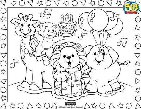 16 printable pictures of fisher price page print color craft
