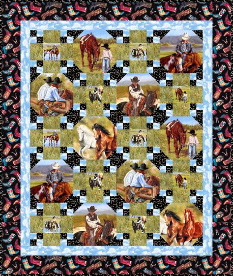 Western Themed Quilt Patterns by Free Quilt Pattern Saddle Up Equilter Blogequilter