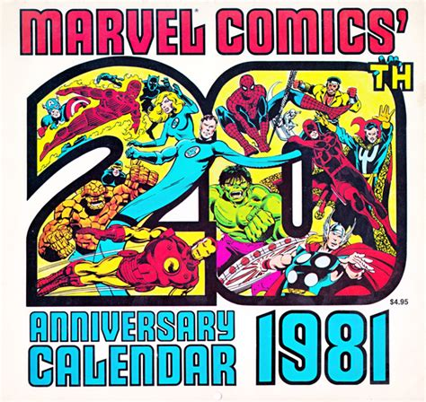 new year january 1981 celebrate the new year with marvel s 1981 calendar because