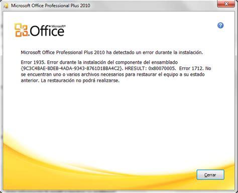 Error 1935 Office by Inform 225 Tica Argento Error 1935 Error Durante La