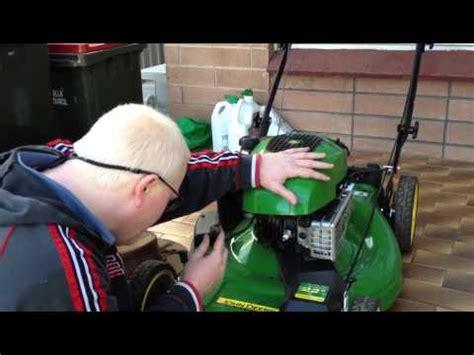 john deere js push mower servicing howto youtube