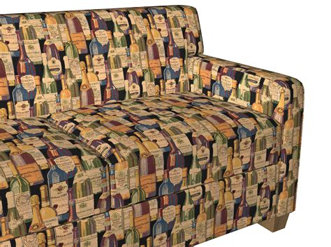 Themed Fabric Upholstery by Wine Cellar Multi Color Bottles Theme Tapestry Upholstery