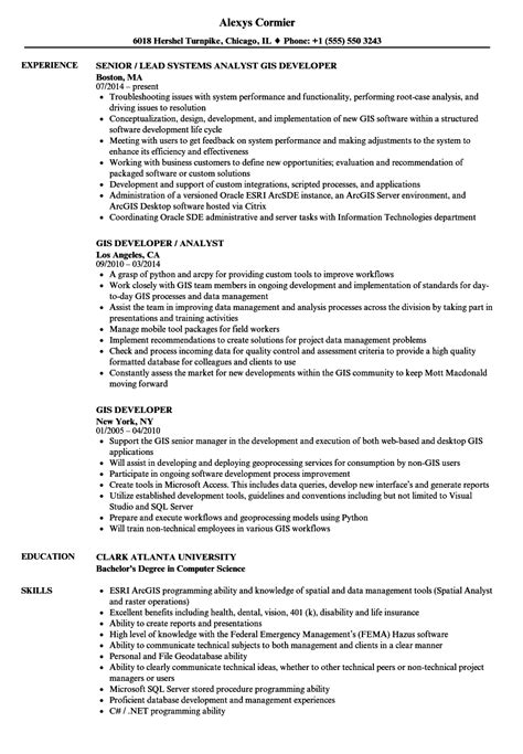 gis analyst sle resume invoice forms templates kitchen