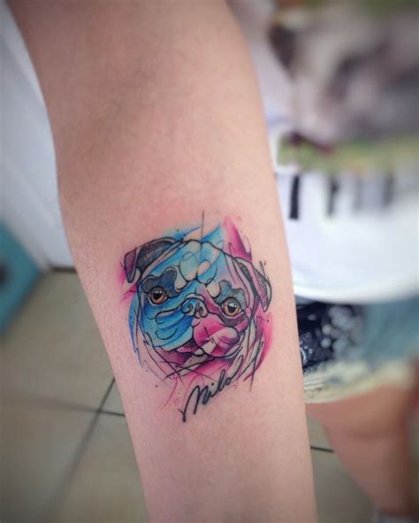 watercolor tattoos va best 25 pug ideas on pug pug and pugs