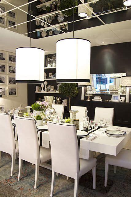 white dining room setzt formelle salle 224 manger et blanche avec miroir au plafond