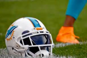 Aug 13 2015 chicago il usa a miami dolphins helmet on the ground
