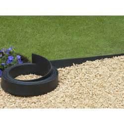 bordure en polyur 233 thane pour jardin et bassin noir 15 m