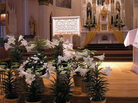 decorations for sanctuary at easter catholic church