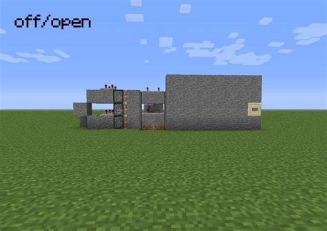 Redstone Doors by Redstone Door Secret Minecraft Project
