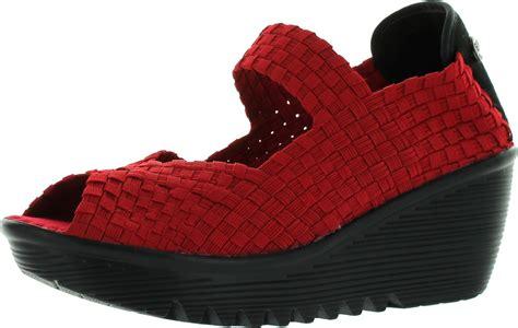 bernie mev womens hallie casual wedge shoes