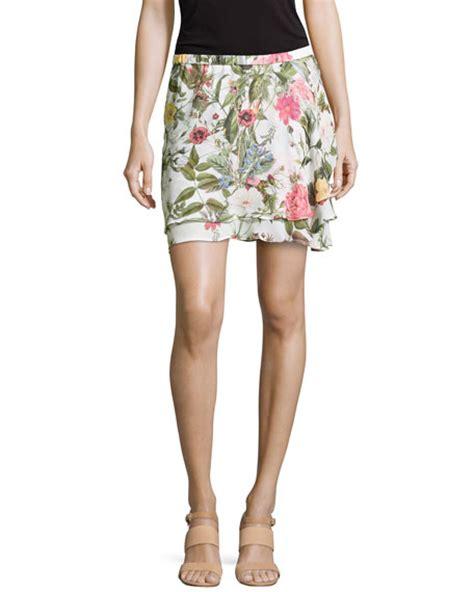 Floral Print Chiffon Skirt haute hippie floral print chiffon skirt