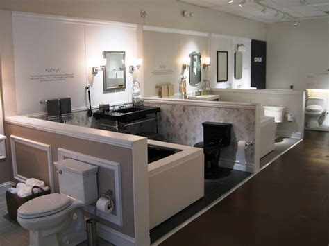 Waterworks Kitchen Faucets bathroom fixtures showroom simple black bathroom