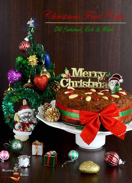 fashioned rich moist christmas fruitcake scratching canvas