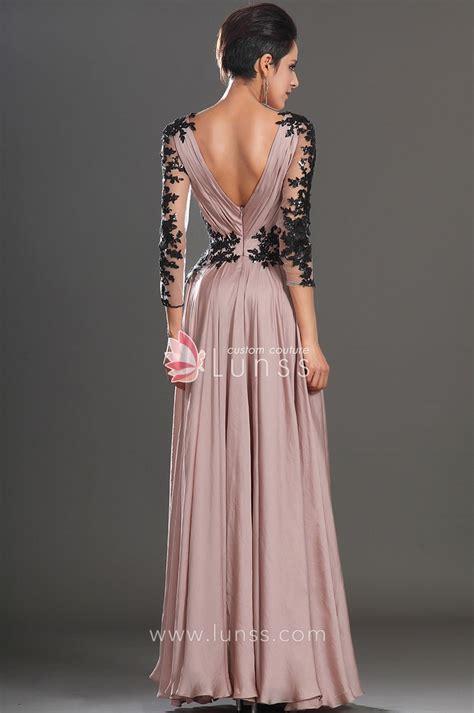 Design Your Own Semi Formal Dress Sheer Long Sleeve V Neck A Line Long Popular Semi Formal