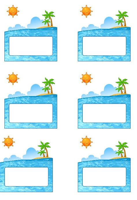 printable name tags pinterest beach labels for party snacks summer beach party pool