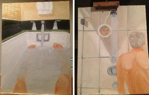 george bush painting bathtub george w bush s bizarre bathroom self portraits laid bare