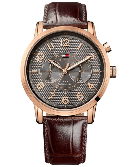 Hilfiger Brown Leather 1791056 hilfiger s brown leather 44mm 1791084 in brown for lyst