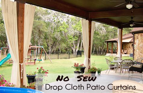patio with curtains no sew drop cloth patio curtains scattered thoughts of a