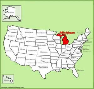Michigan Usa Map by Michigan Location On The U S Map