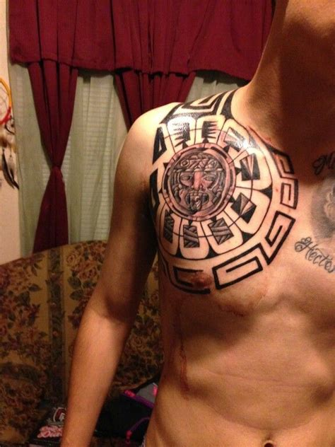 aztec calendar tribal tattoos aztec tribal tattoos aztec tribal