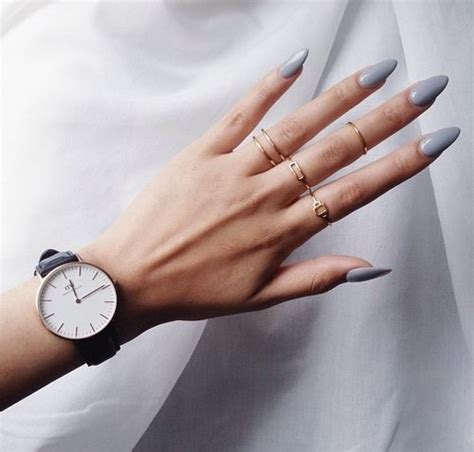 Gel Wanna Be Grey Brown 1 gray oval nails oval nails oval nails