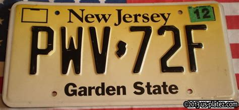 New Jersey Garden State by New Jersey Us Platez