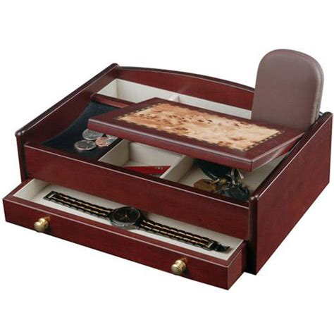men s dresser top valet jewelry box and accessories organizer mens jewelry box and dresser valet in jewelry boxes and