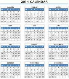 2014 12 Month Calendar Template by 2014 Calendar Template 2014 Year Calendar Template 12