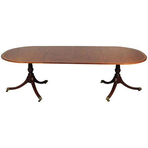 regency mahogany two pedestal dining table at 1stdibs double pedestal regency mahogany dining table at 1stdibs