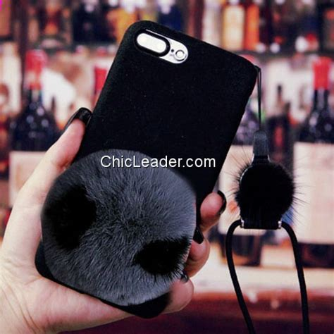 Softcase Rabbit Fur Series Iphone 6 6s 1 panda design rabbit fur flocking soft for iphone 6 6s 4 7 inch chicleader