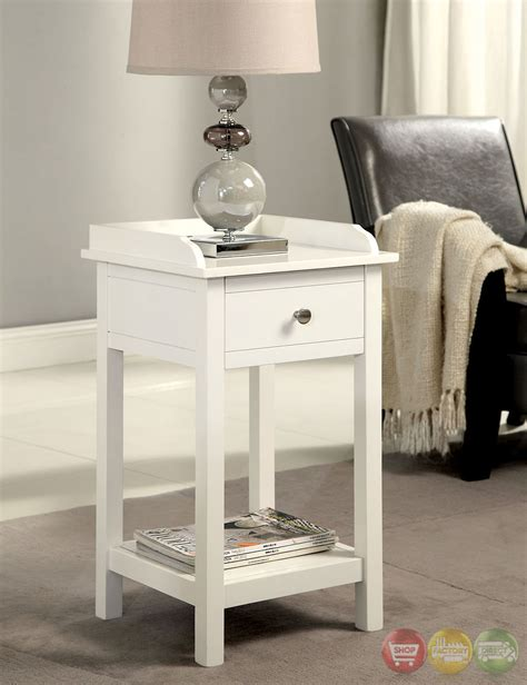 white accent table with drawers voula contemporary white accent table with drawer