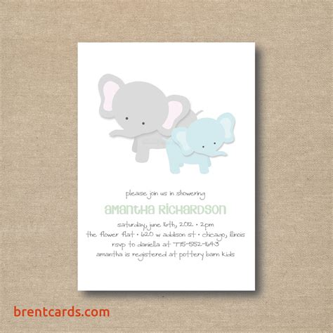 printable elephant stationery downloadable baby shower invitation templates free free