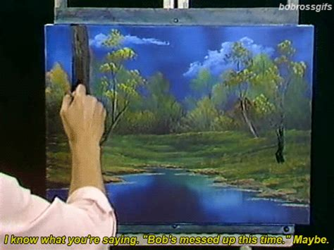 bob ross paintings on display gif painting queue television bob ross the of