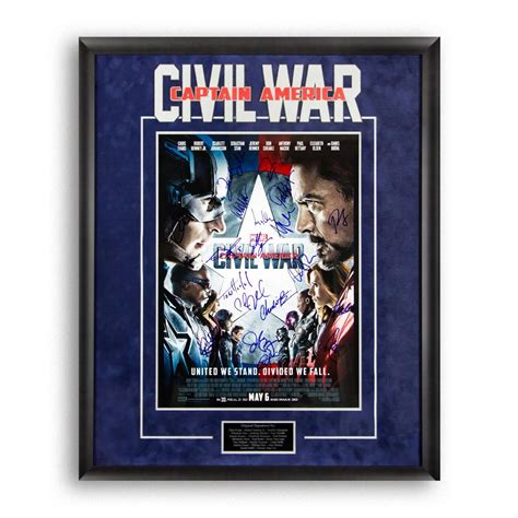 marvel film memorabilia signed artist series signed marvel movie memorabilia