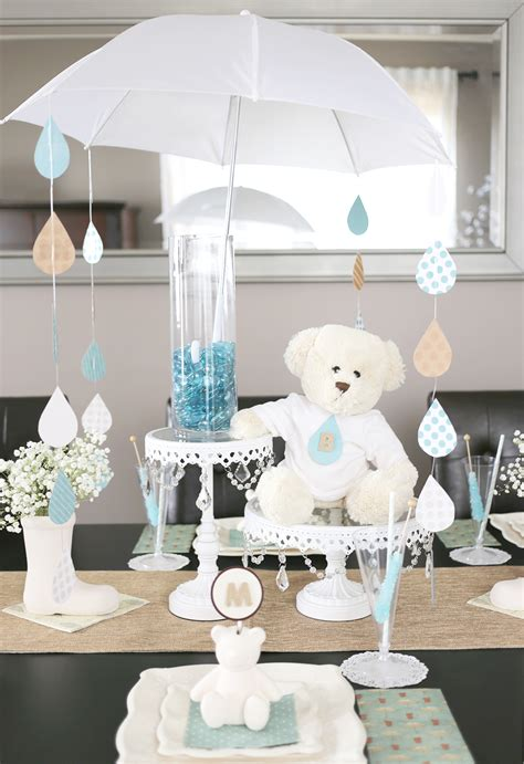 decorative umbrellas for centerpieces a sweet umbrella themed baby shower