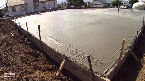 How To Build A Concrete Foundation For A Shed by Concrete Cement Workers Laying House Foundation Arizona