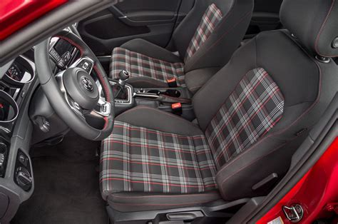 volkswagen golf gti 2015 interior 2015 volkswagen golf gti first test motor trend