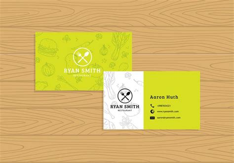 concessions business card template name card restaurant template free vector free