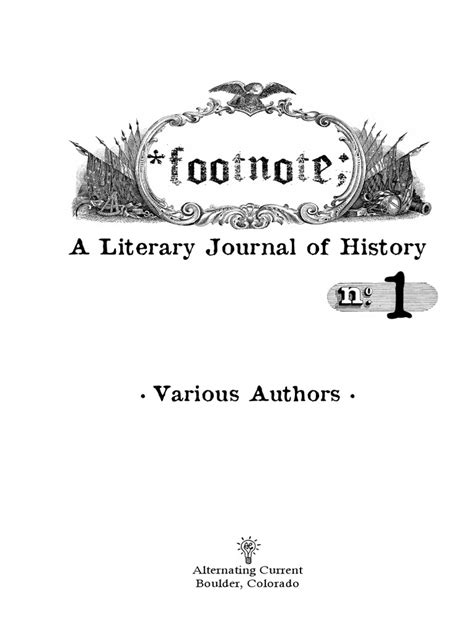Footnote #1: A Literary Journal of History (Preview