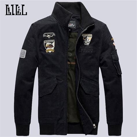 Jaket Bomber Jaket Casual Jaket Anti Air s cotton bomber jackets air one style sportwear casual veste army