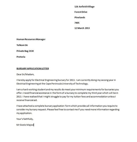 an exle of cover letter of application 50 best free application letter templates sles free