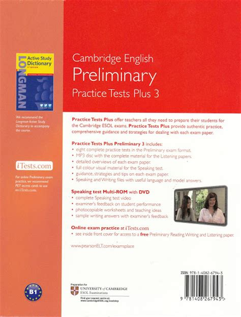 practice tests for cambridge practice tests plus pet english preliminary 3 with key multi rom audio cd new 9781408267943